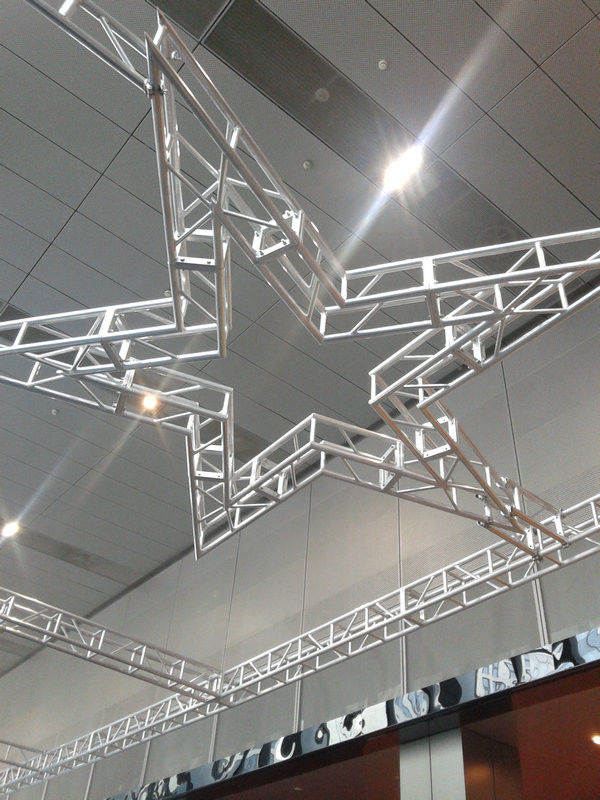 Silver Aluminum Circle Truss / Star Arch Truss For Lighting
