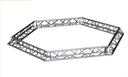 Hexagonal Truss Silver For Lighting Stage Truss / Steel Roof Truss
