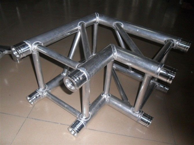 Spigot Square Truss Coupler With Two Sides Corner , Corrosion Resistance
